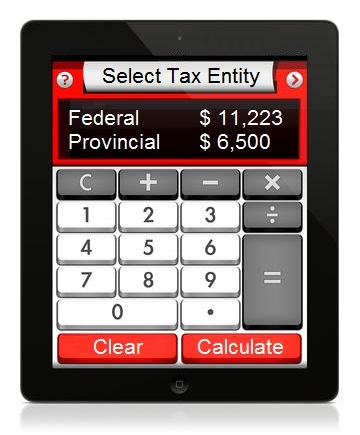 Canadian Tax Calculator 2018 - 2019